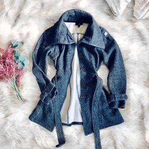 🌿 iZ Byer Charcoal Fleece Peacoat 🌿
